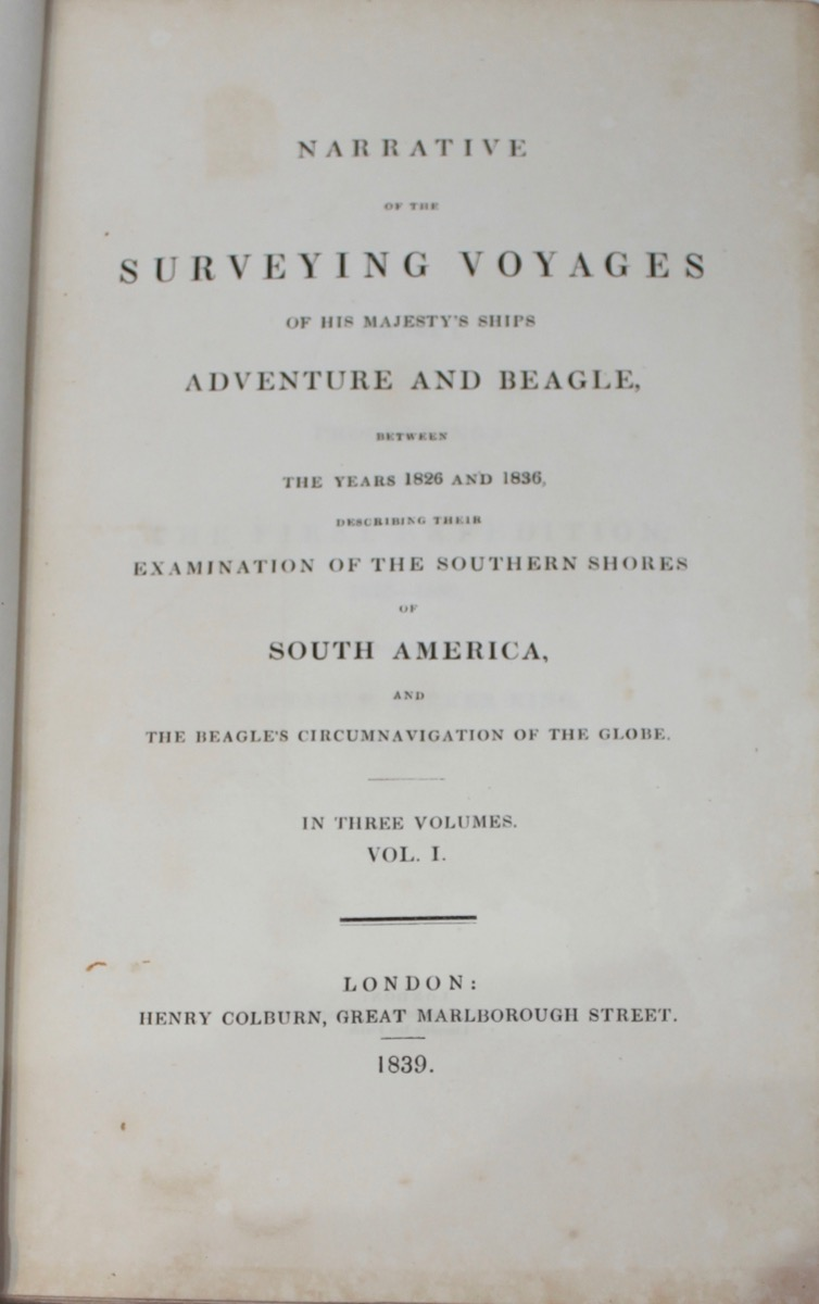 Image for Narrative of the Surveying Voyages of His Majesty's Ships Adventure and Beagle Between the Years 1826 and 1836, Describing Their Examination of the Southern Shores of South America and the Beagle's Circumnavigation of the Globe.