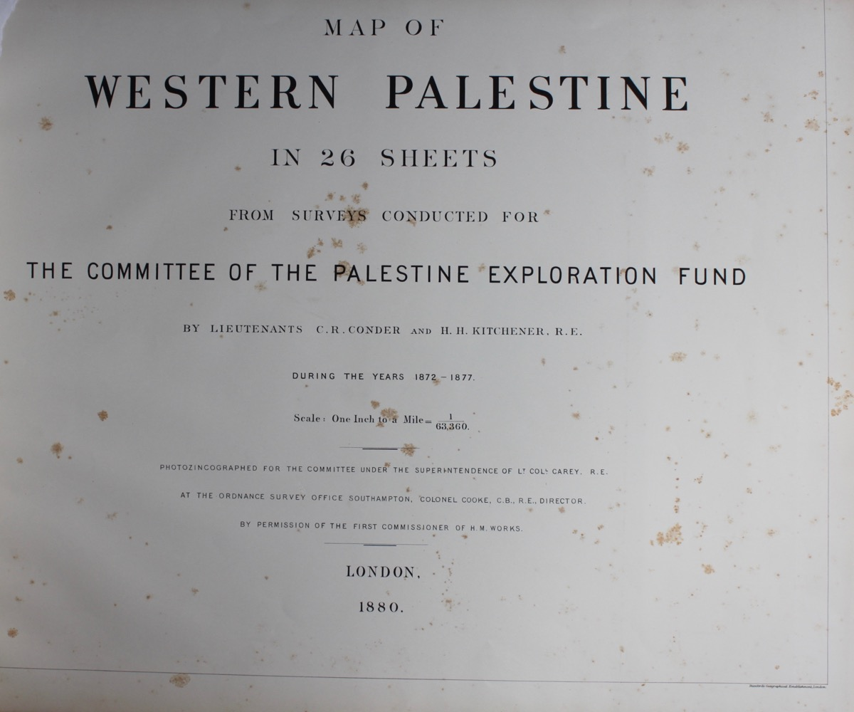 Image for Map of Western Palestine, in 26 Sheets from Surveys Conducted for the Committee of the Palestine Exploration Fund During the Years 1872 - 77.
