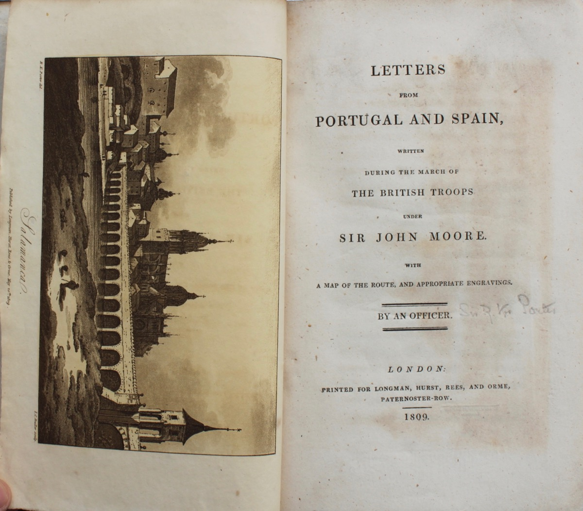 Image for Letters from Portugal and Spain, written during the march of British Troops under Sir John Moore with a map of the route and appropriate engravings.