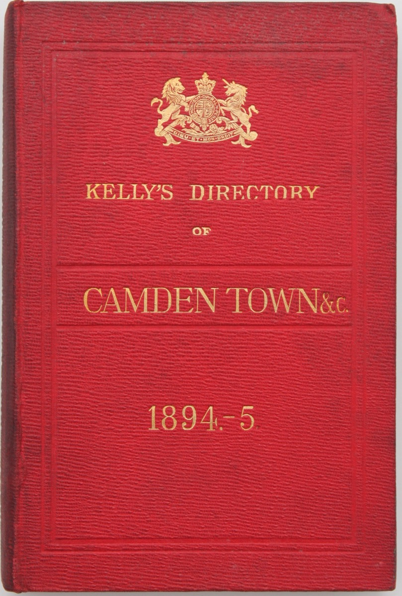 Image for Kelly's Camden and Kentish Towns Directory (Buff Book) for 1894-5.
