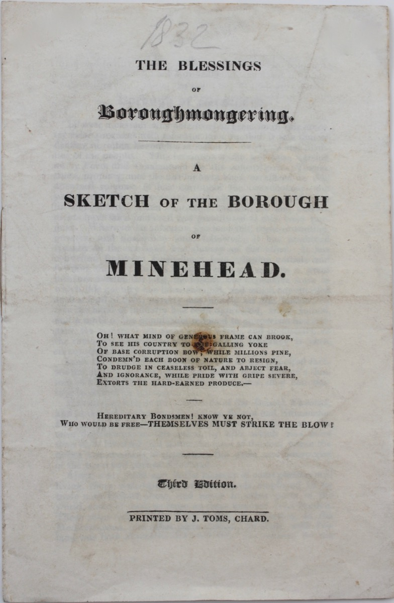 Image for The Blessings of Boroughmongering. A Sketch of the Borough of Minehead.