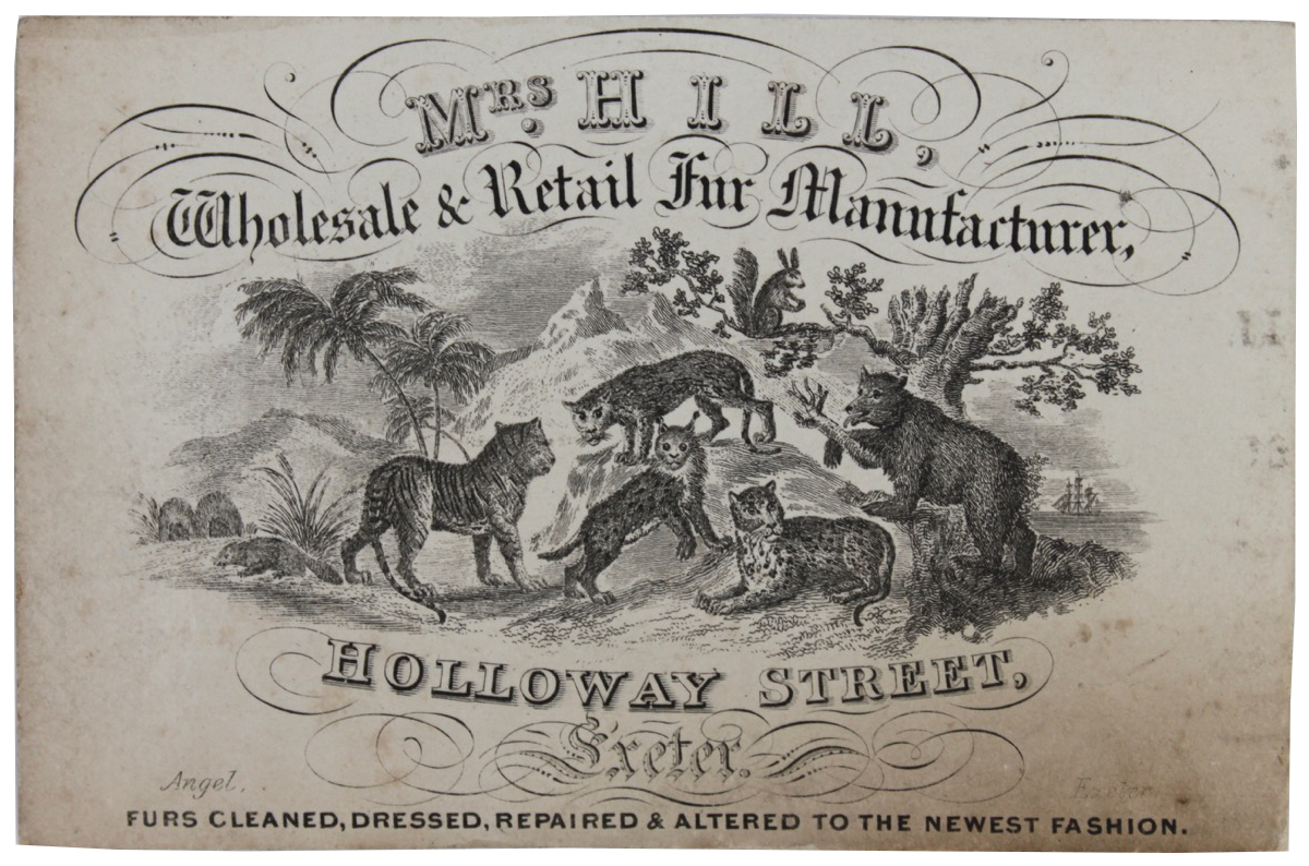 Image for Mrs Hill, Wholesale & Retail Fur Manufacturer, Holloway Street, Exeter.