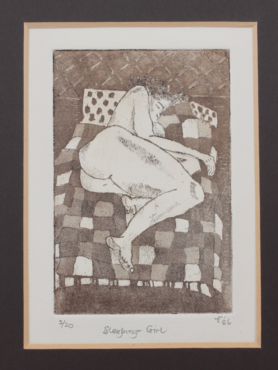 Image for Sleeping Girl. Etching.