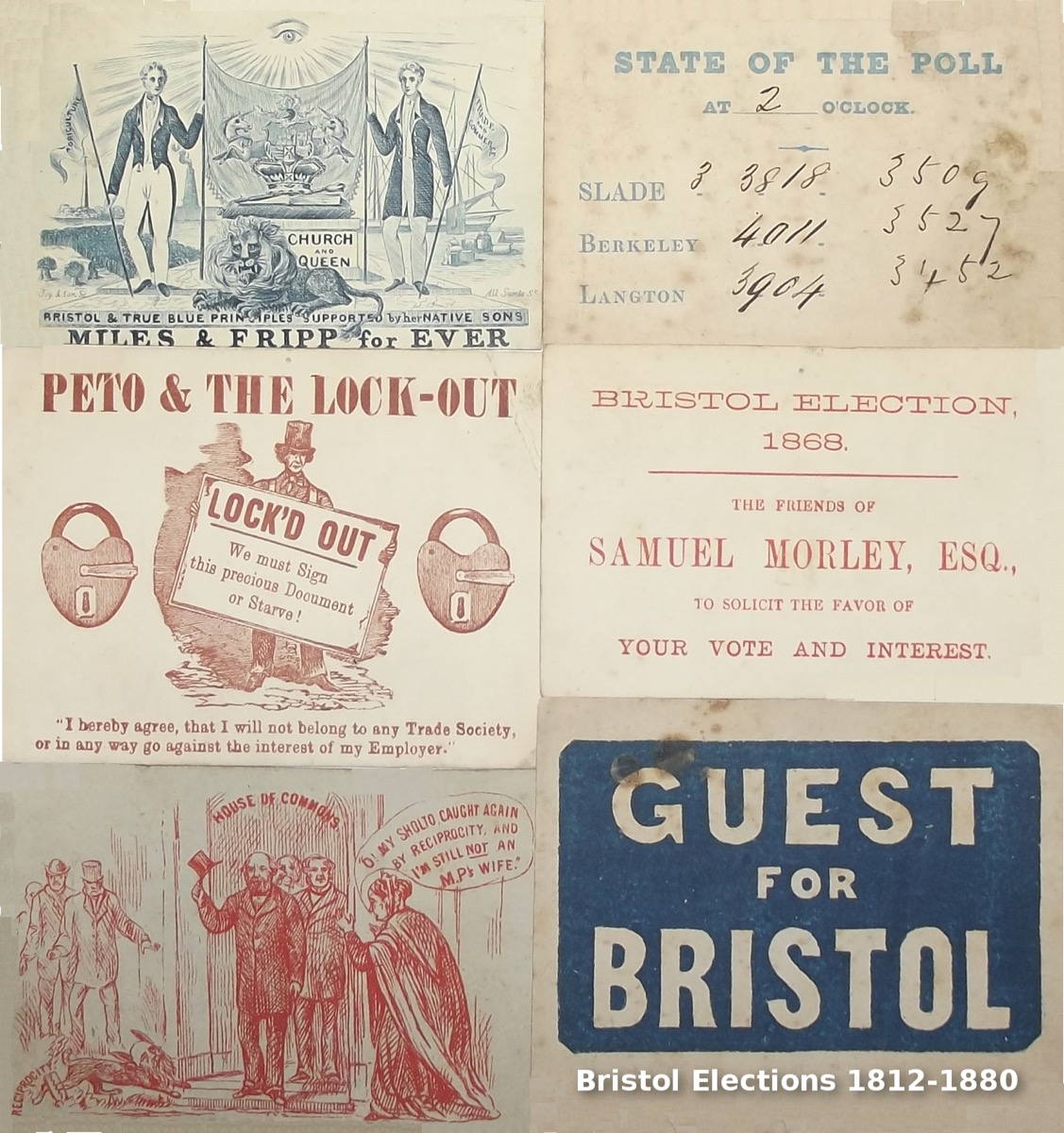 Image for Bristol Election Ephemera 1812 - 1880.