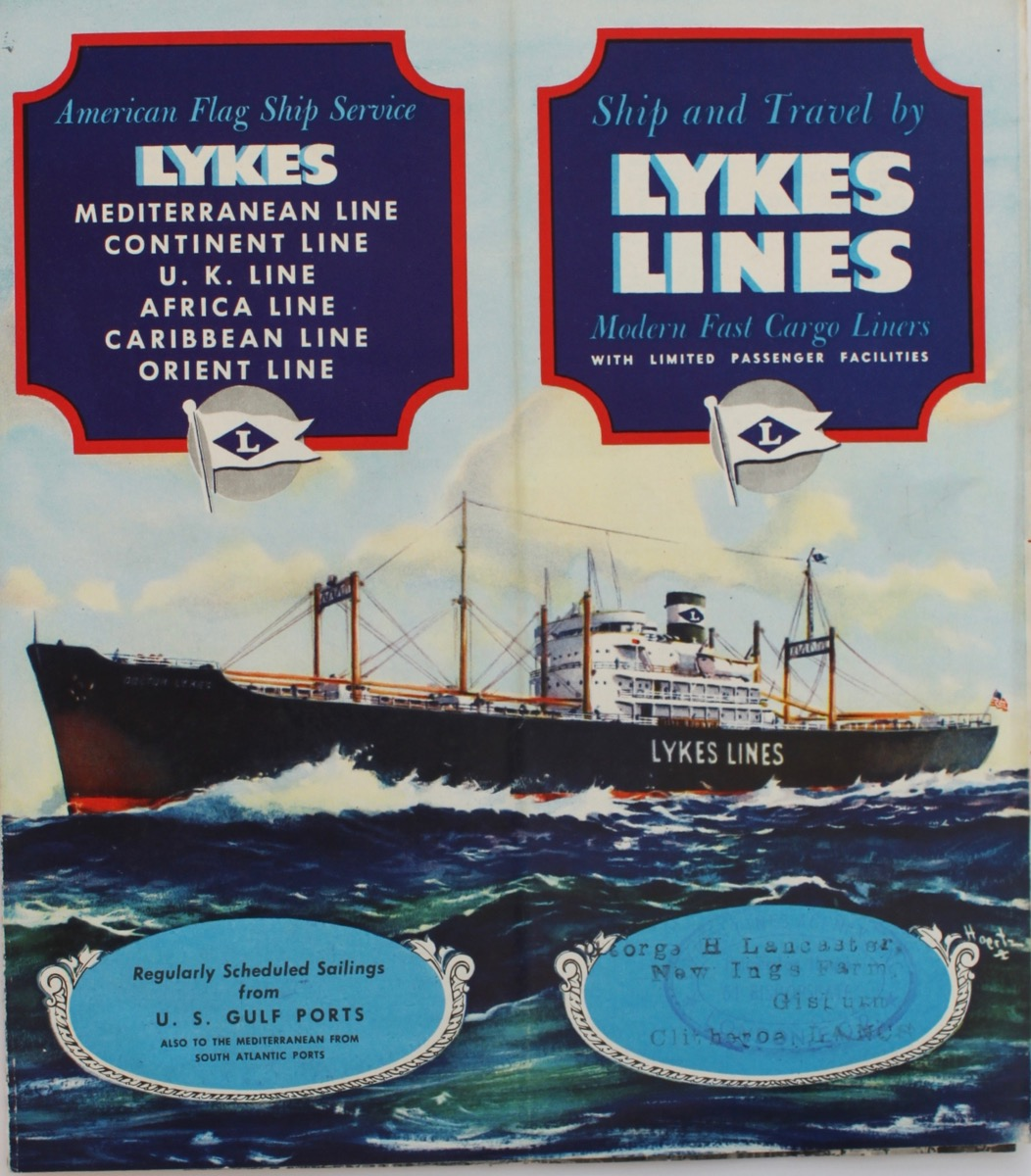 Image for Ship and Travel by Lykes Lines, Modern Fast Cargo Liners.