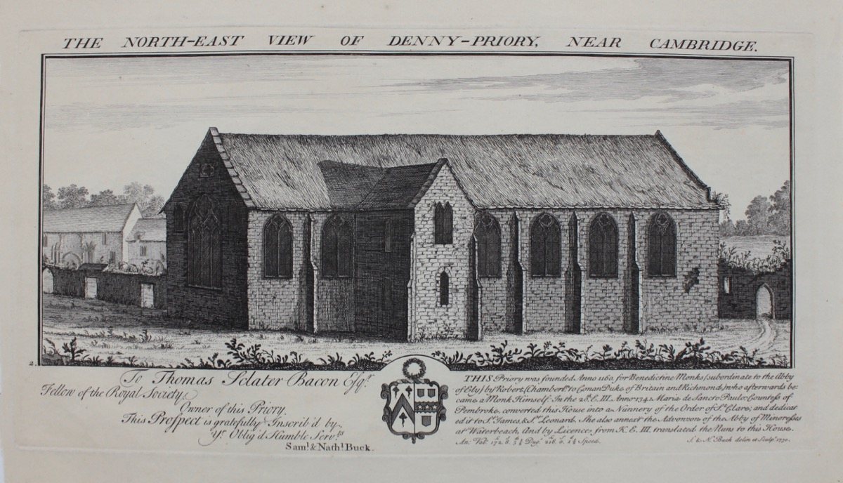 Image for The North-East View of Denny-Priory, near Cambridge.
