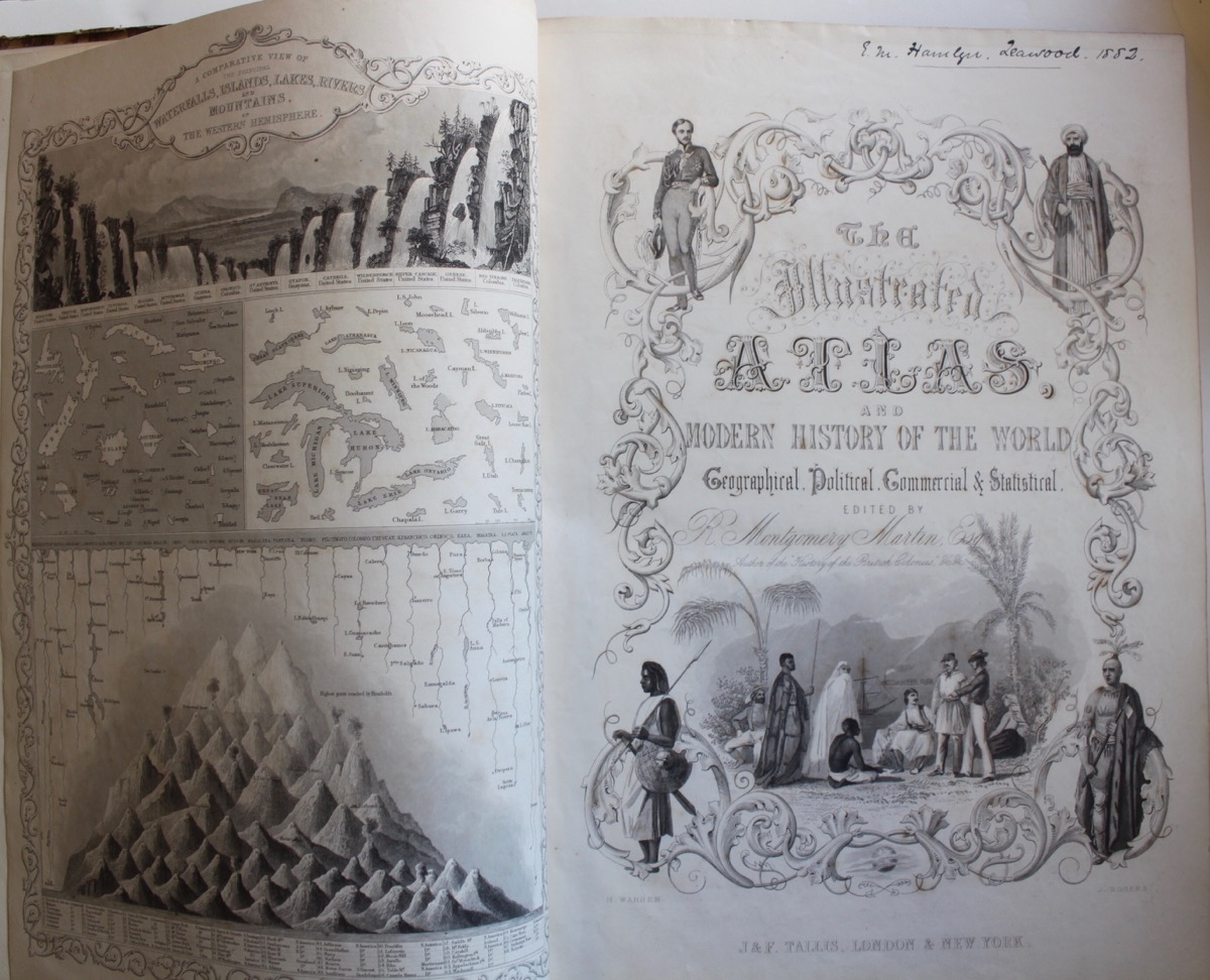 Image for The Illustrated Atlas, and Modern History of the World; Geographical, Political, Commercial & Statistical.
