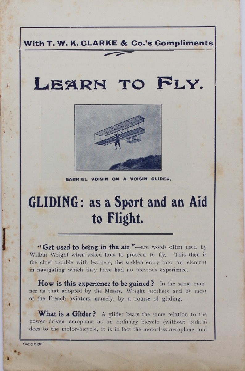 Image for Learn to Fly. Gliding: as a Sport and an Aid to Flight.